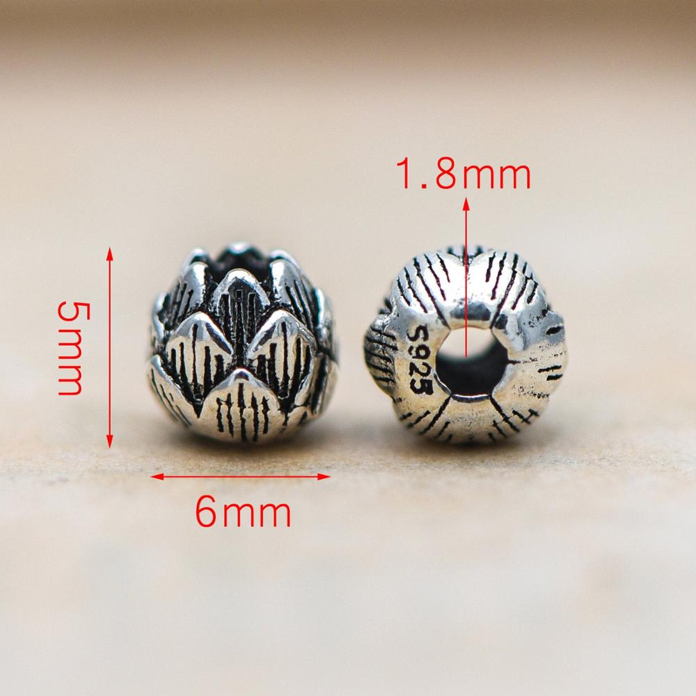 2xSterling Silver Bail Beads Stoppers DIY Bracelet Necklace Jewelry Findings