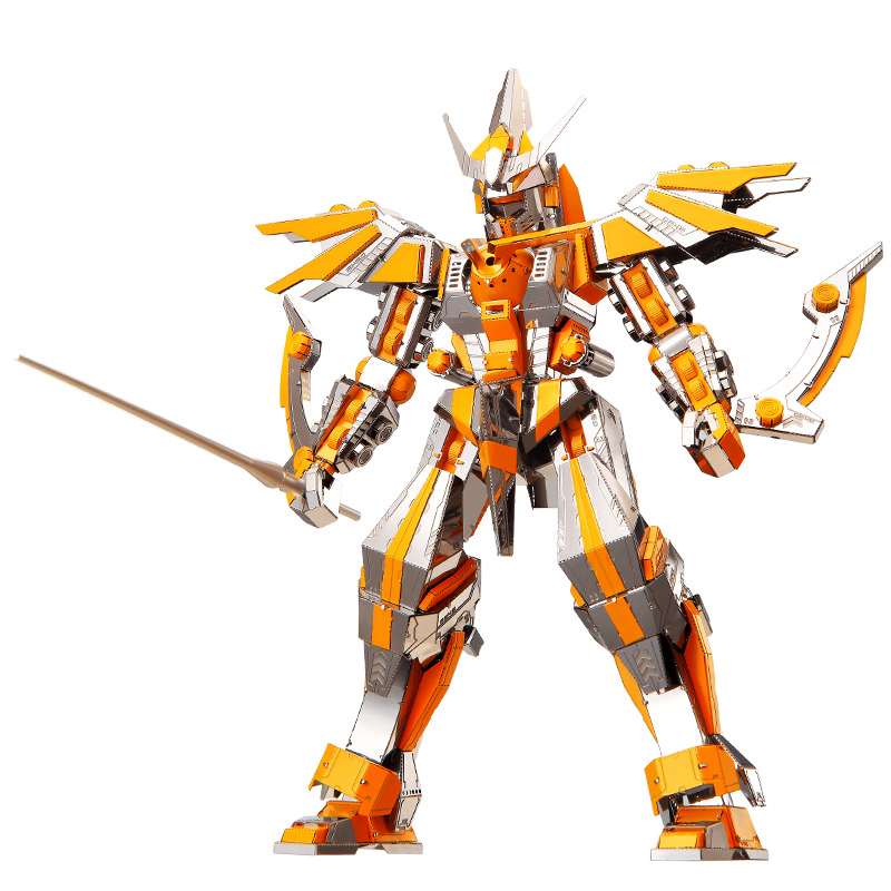 Piececool 3D Metal Nano Puzzle Crescent Blade Armor Diy 3D Metal Model Kits P097-SY Laser Cut Assemble Jigsaw Toys