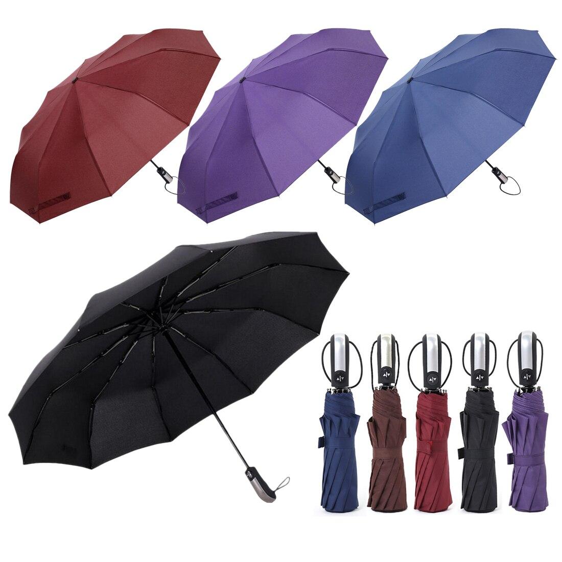1 Pz Resistente Al Vento Pieghevole Ombrello Automatico Degli Uomini Di Lusso Di Grande Antivento Ombrello Pioggia Donne Ombrello Maschile