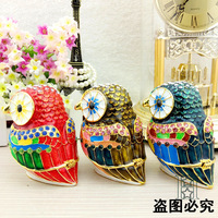 European painting crafts, metal crafts Cartoon style owl,desktop Decoration home ornaments gift(A427)