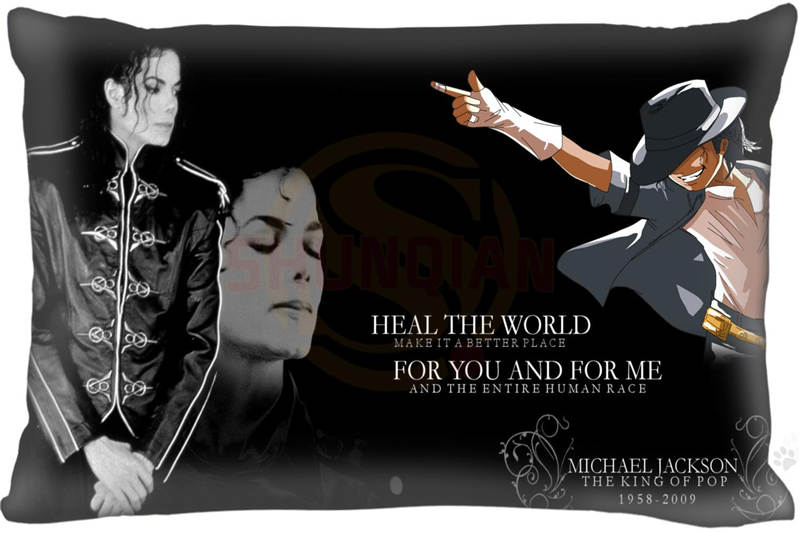 New Michael Jackson Pillow Case 16x24 Inch Comfortable  the best gift for your family High Quality Free Shipping Co9