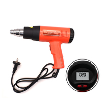 Heat Gun 2000W Heavy Duty Hot Air Gun With Large LCD Display Variable Temp Memory Setting And Wind Speed Adjustment