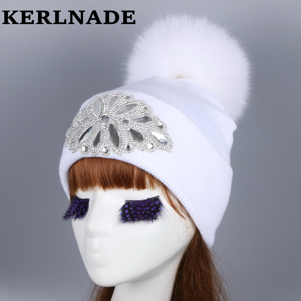 mink and fox fur ball cap pom poms winter hat for women girl 's wool hat knitted cotton beanies cap brand new thick female hats sopamey winter wool knitted hat beanies real mink fur pom poms skullies hat for women girls warm hat feminino 2017