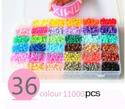 KINGTOY 5mm hama beads 36 colors set fuse/perler beads diy educational toys  eva 1 lot 2 pcs hama fuse perler beads 2 6mm big square pegboards connecting pegoard mini hama beads jigsaw puzzle handmade diy