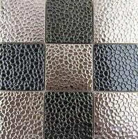ファッションステンレス鋼金属モザイクタイルキッチンbacksplashの浴室のシャワー背景壁紙タイルホテルバー卸売