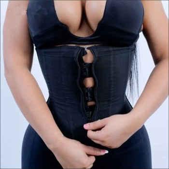 Latex Waist Trainer Body Shaper Women Corsets with Zipper Cincher Corset Top Slimming Belt Shapewear Black Plus Size - DISCOUNT ITEM  0% OFF All Category