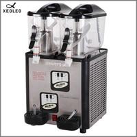 XEOLEO Double Tank Slush Machine 6L*2 Commercial Snow melting machine 880W Cold drinking dispenser 220V/230V Ice cream maker