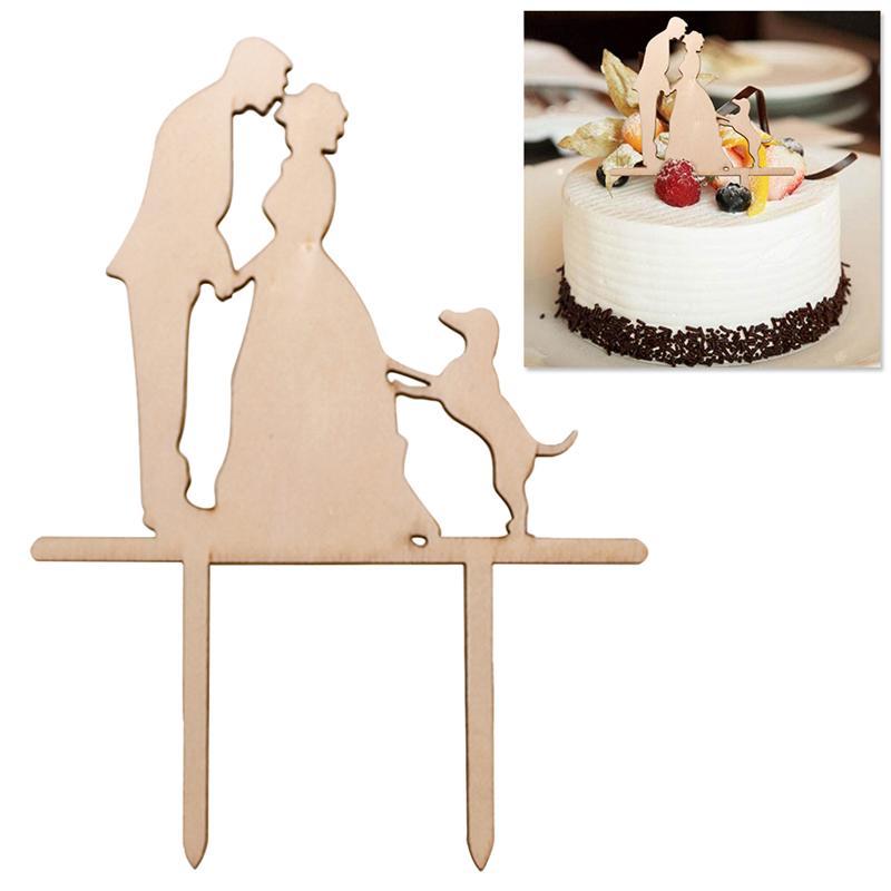 winomo Mr /& Mrs g/âteau de mariage Topper D/écoration pour g/âteau C/œur en bois D/écoration de table g/âteau