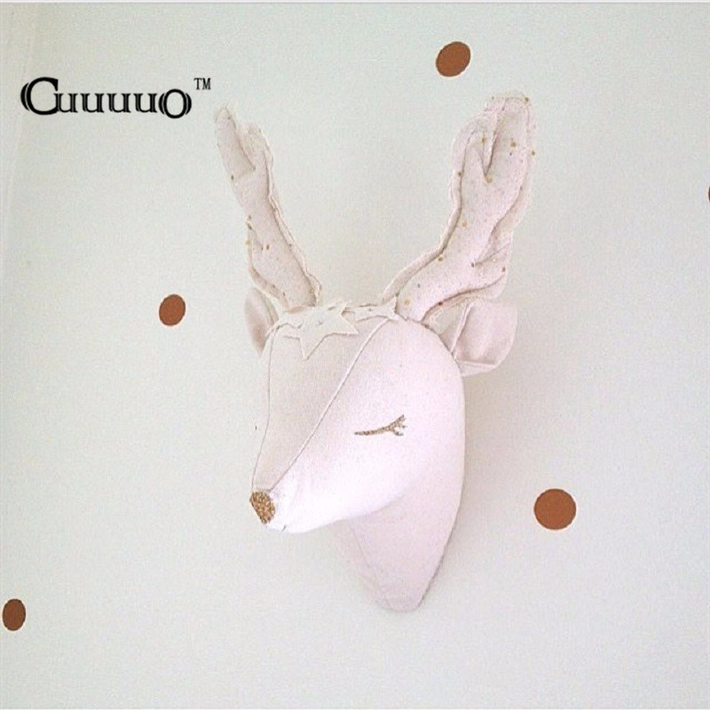3d Reindeer Unicorn Animals Head Wall Decorations Kids Child Baby Room Nursery Wall Hangings Stuffed Toys Gift Photography Props