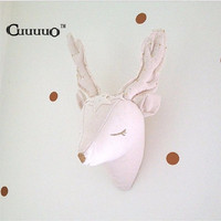3d Reindeer Unicorn Animals Head Wall Decorations Kids Child Baby Room Nursery Wall Hangings Stuffed Toys