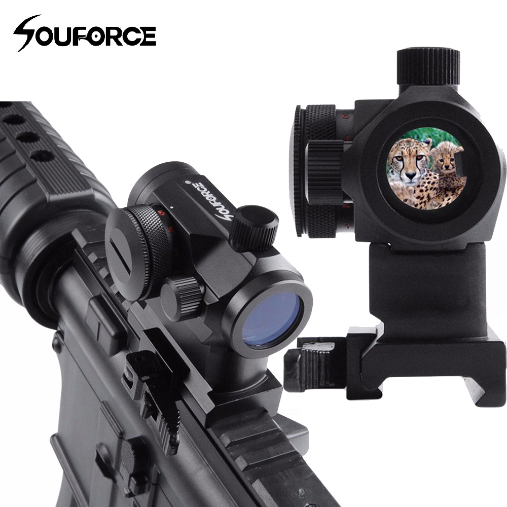 QD Riflescope High Red Green Dot Holographic Sight Quick Detach with 20mm Mount Rifle Scope for Picatinny and Weaver Rail System tactical push button quick release detach qd swivel loop with rail sling attachment mount for 20mm picatinny rails