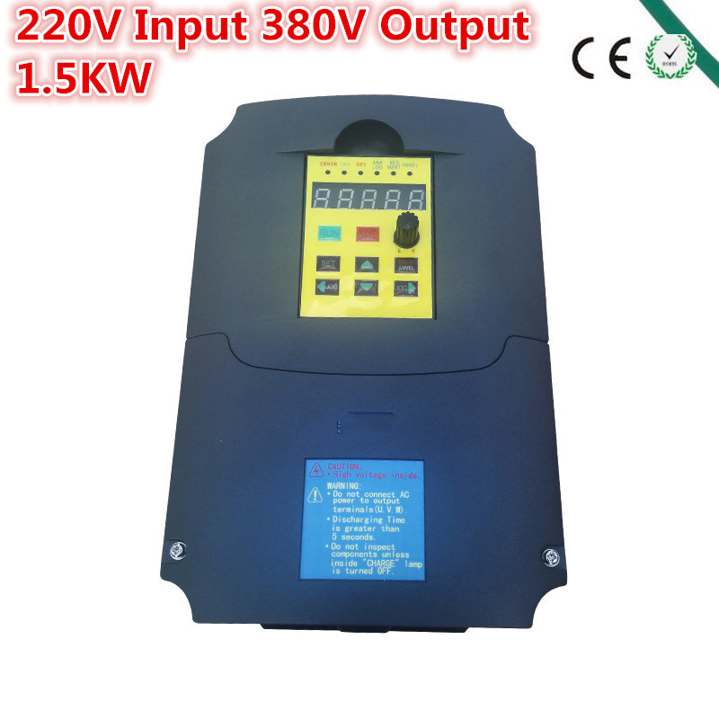 Inverter,1500 watt (1.5KW) , input 220V output 380V Variable Frequency Drive for 1.5KW Motor Speed Control, Drive Capacity: 7KVA aurora double drive 1500