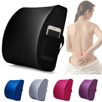 Memory Foam Breathable Healthcare Lumbar Cushion Back Waist Seat Support Travel Pillow Car Seat Home Office