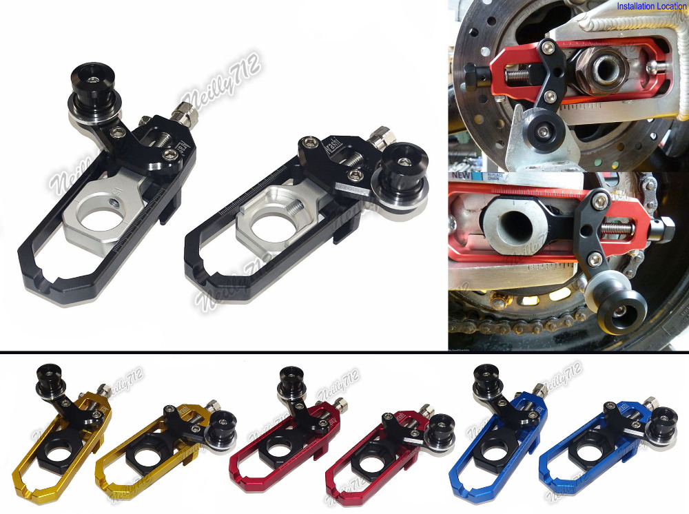 waase CNC Aluminum Chain Adjusters with Spool Tensioners Catena For APRILIA Tuono V4 R V4R 1000 APRC 2012 2013 2014 waase aluminum chain adjusters with spool tensioners catena for yamaha yzf r6 2006 2007 2008 2009 2010 2011 2012 2013 2014 2016