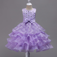Kids Girls Ball Gown Sequined Pearls Sleeveless Blue Rose Purple White Tutu Dresses for Girls Party Princess Costume 3 14 1A8J