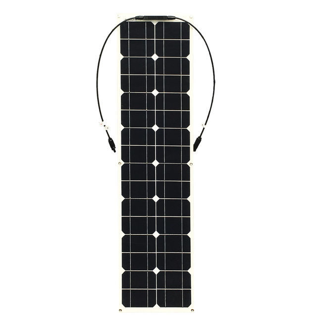 50w Solar Panel Monocrystalline Cilicon Cell Module DIY