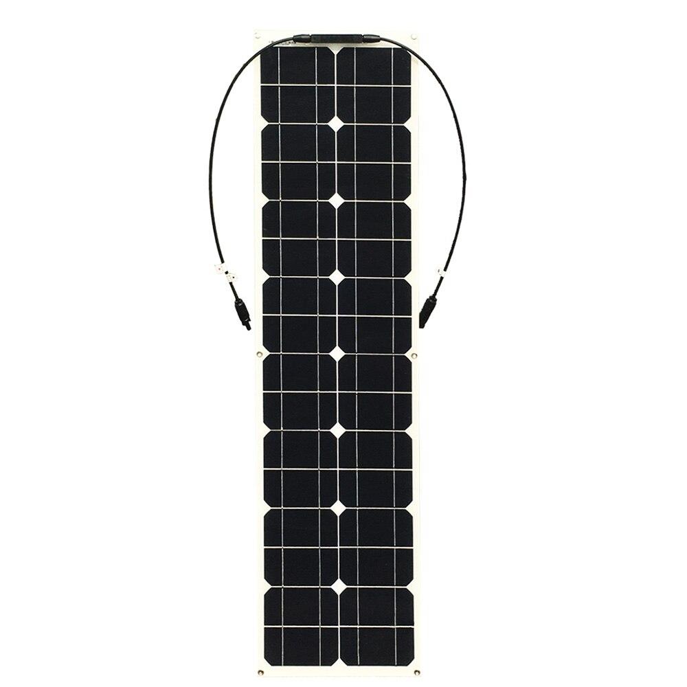 Boguang 50w panneau solaire cellule de silicium Monocristallin module kit de bricolage système 12v batterie MC4 connecteur câble RV yacht de charge