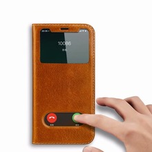 Luxury Smart magnet adsorption Leather Flip Case For iPhone X XS MAX XR 6 6S 7 8 Plus Real Leather Dual Window View Back cover mooncase чехол для apple iphone 6 plus 5 5 inch view window leather flip bracket back cover gold