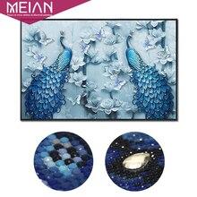 "Meian 特殊形状 ""孔雀愛好家"" DIY 、ダイヤモンド絵画、ダイヤモンド刺繍、フル、ダイヤモンドモザイク、ビーズ絵、家デクマント"