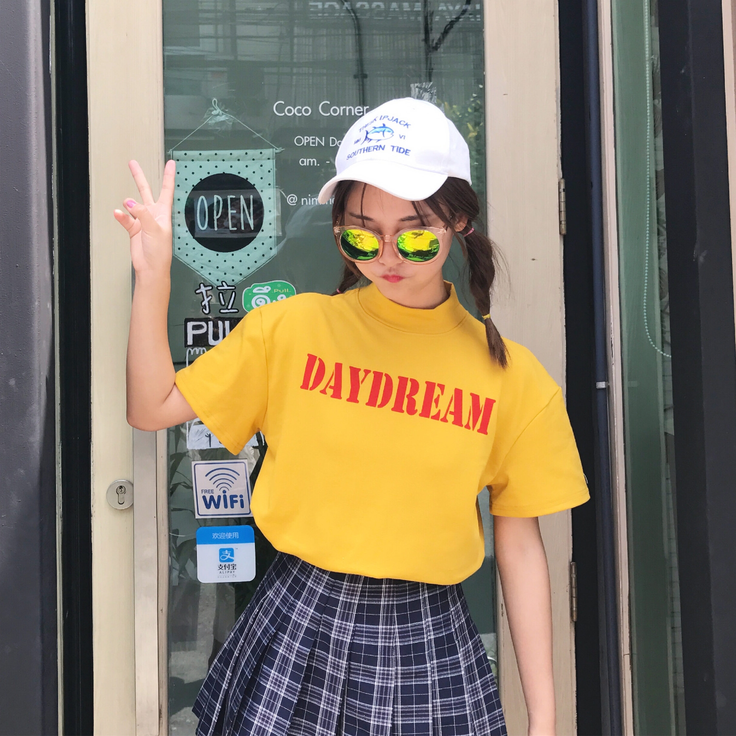 2018 College Wind Casual Loose Letter Printed Fashion Simple New Arrival hot sale Basic All Match Short Sleeve Female T-shirts