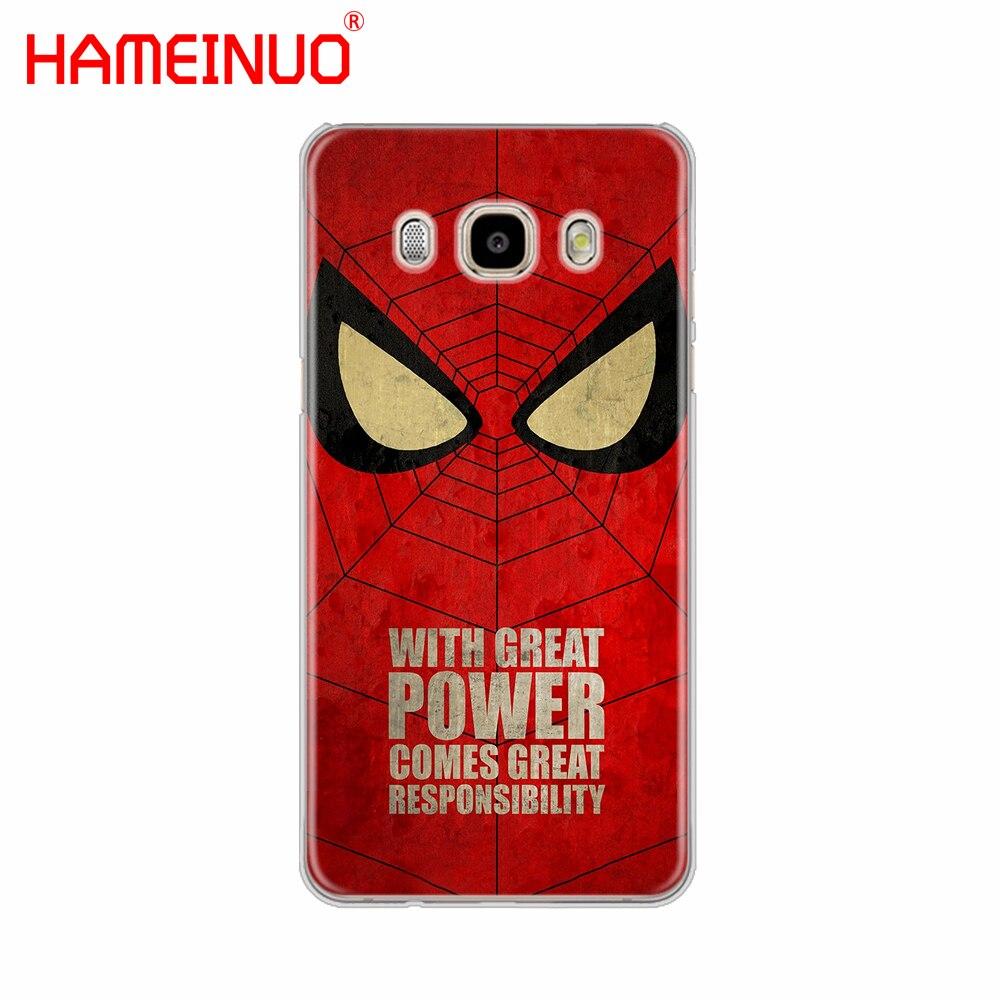 HAMEINUO Бэтмен Человек-паук Wonder woman крышка телефона чехол для samsung Galaxy J1 J2 J3 J5 J7 мини ACE 2016 2015 премьер