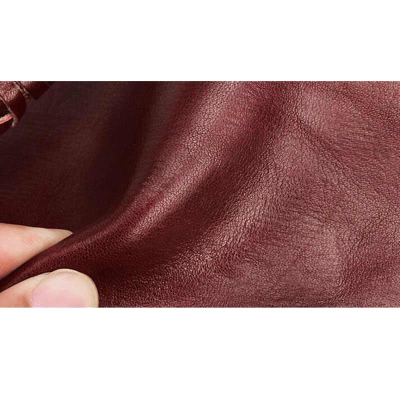 Aetoo Originele Retro Multi-Functionele Anti-Diefstal Ketting Koeienhuid Verticale Portemonnee Gesp Multi-Card Purse Mannen En vrouwen Portemonnee