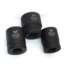 Douille à Impact 3/4, CR-MO pouces, douilles à Air robustes 17mm 18mm 19mm 21mm 22mm 24mm 27mm 30mm 35mm 38mm 41mm 46mm hexagonales noir