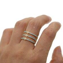 Новинка, высококачественные обручальные кольца, золотой цвет, AAA циркон, бирюза, модные кольца для женщин