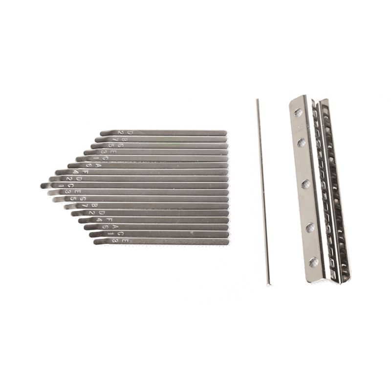 New Kalimba 17 Key DIY Thumb Piano Keys Lettering Replacement Parts (17 Keys) Qiang