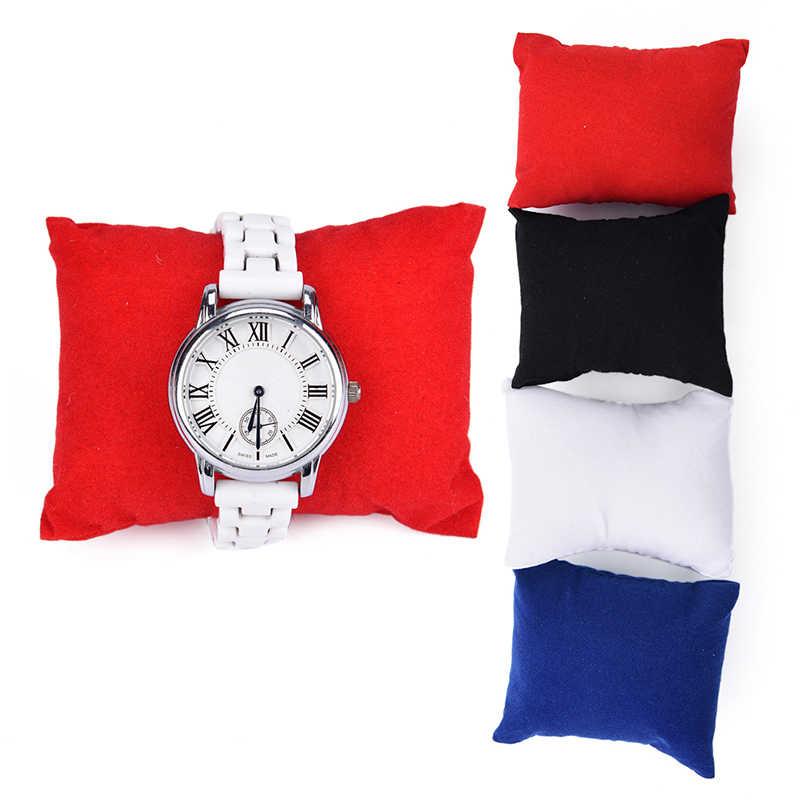 1 шт. 8*9*5 см коробки для показа Ювелирных Изделий Бархатный кожаный браслет подушка для часов держатель Органайзеры