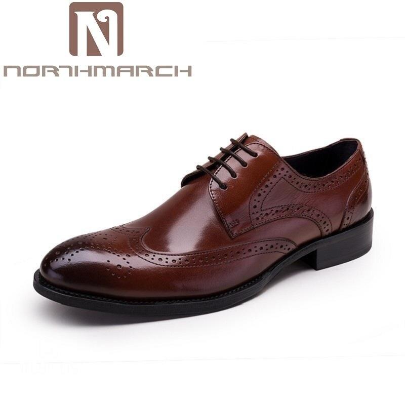 Sapatos Oxfords Da Plus Size Escritório De Designer Casamento Homens Oco Couro Rendas Northmarch cáqui Moda Luxo marrom Até Esculpida Preto branco ZgvwYA0q4