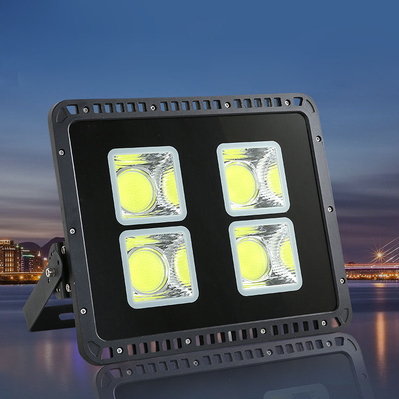 4PCS LED Flood Light 110lm/W COB 50W 100W 150W 200W 300W 400W 500W 600W Water Proof Outdoor Lights AC85 265V Project Lamp