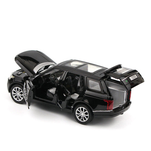 Image 2 - 1:32 Range Rover SUV Simulation Toy Car Model Alloy Pull Back Children Toys Collection Gift Off Road Vehicle Kids 6 open door