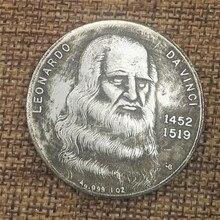 Италия Da Finch делает старые медные и серебряные монеты, зарубежные Серебряные монеты, Антикварные Монеты, диаметр 38 мм