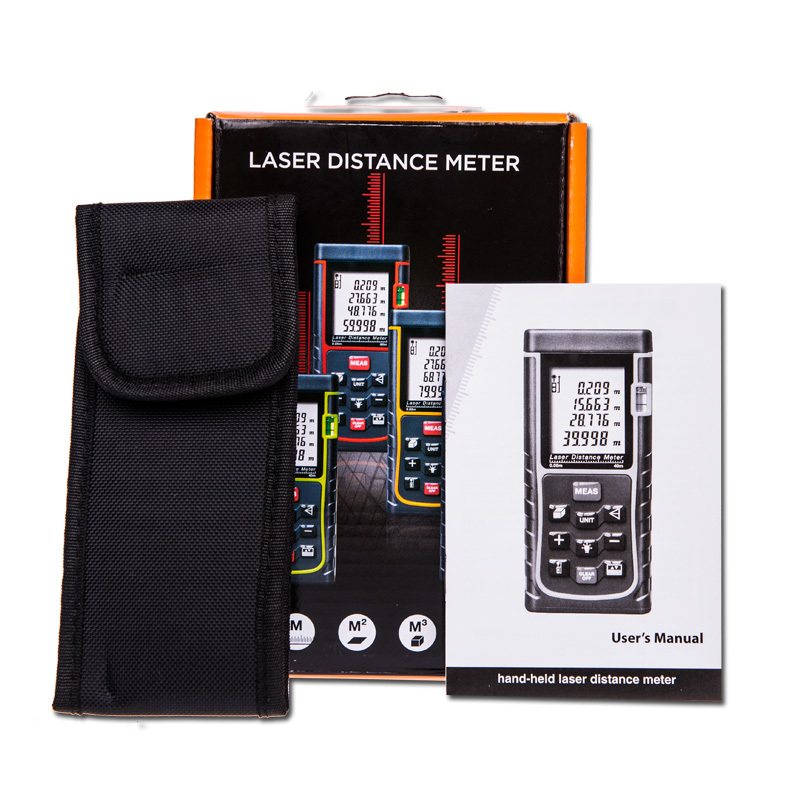 SW-E100 RZ100 -3 100M(262ft) Laser Distance Meter With Bubble Level Rangefinder Range Finder Tape Measure Wholesale