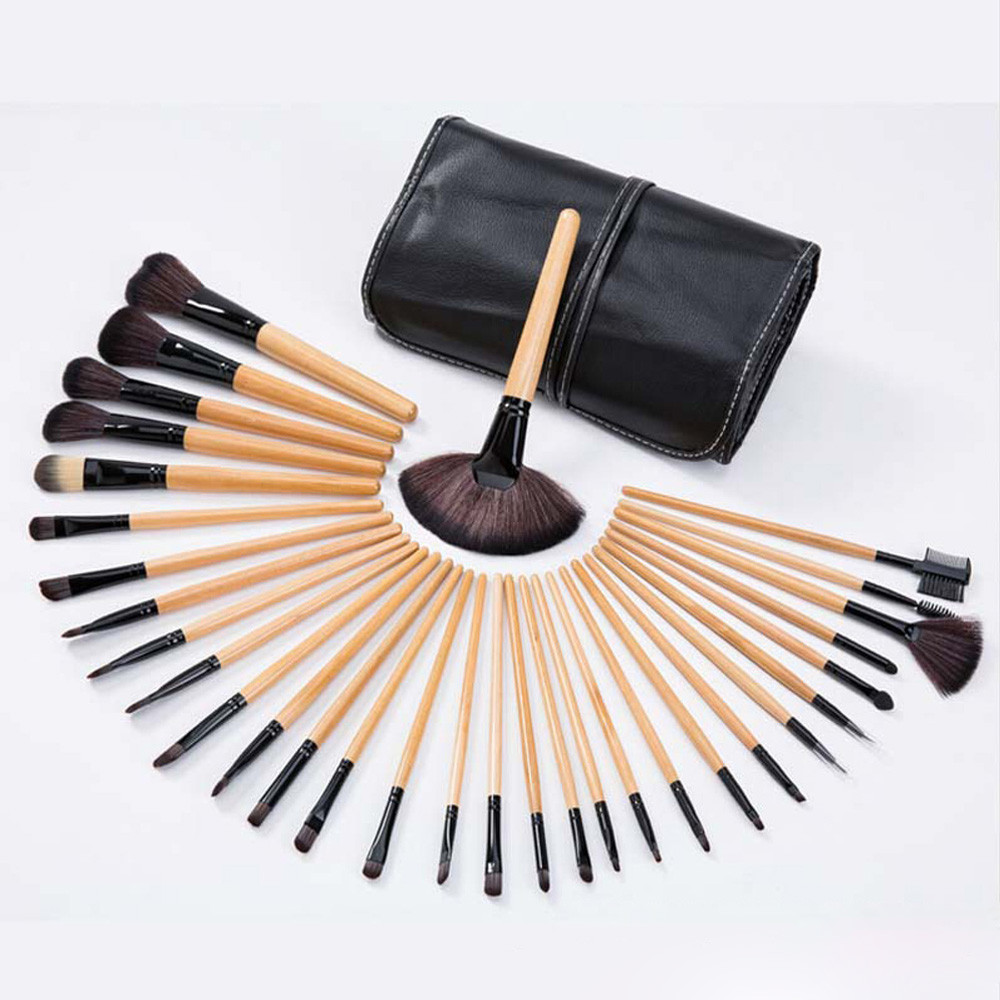32pcs Professional Soft Cosmetic Eyebrow Shadow Makeup Brush Set Kit+Pouch  Bag-in Eye Shadow Applicator from Beauty   Health on Aliexpress.com  f2c348f0319ce