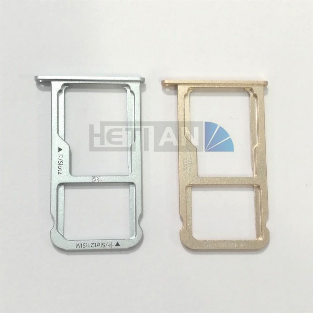 1PCS New Nano SIM Card Tray Micro SD Card Holder Slot Adapter Parts For Huawei Honor V8