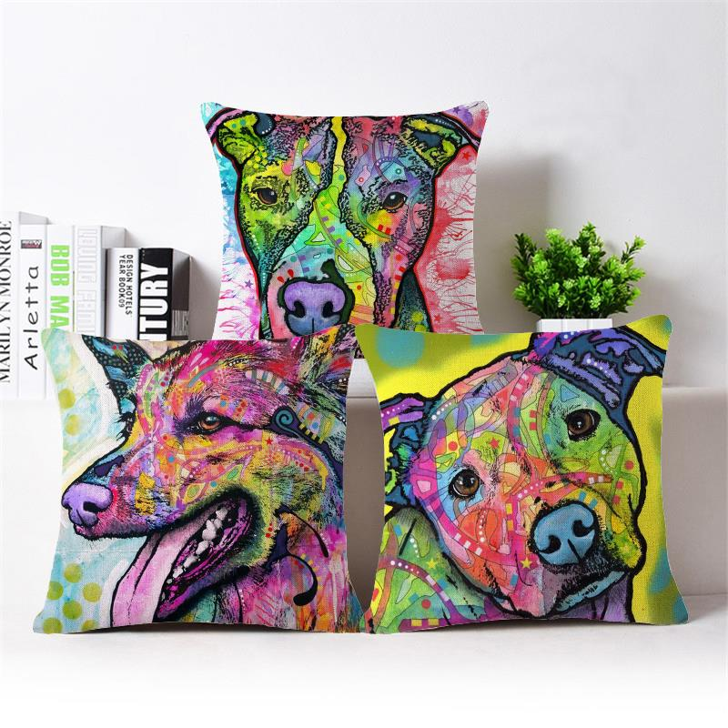 Paiting Dog Cushion Covers Sofa Throw Pillows Decorative Throw Pillow Covers  Pillowcase Garden Furniture Cushions For. Online Get Cheap Furniture Pillow Covers  Aliexpress com   Alibaba