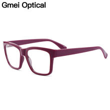 Gmei Optical Trendy Square Full Rim Plastic Glasses Frame For Women's Myopia Presbyopia Reading Prescription Eyeglasses H8013(China)