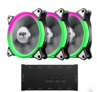 Aigo Fan Iridescence RGB 12 Cm Aurora Aperture Water Multimodal Cooling Fan Octave Space C3 Computer