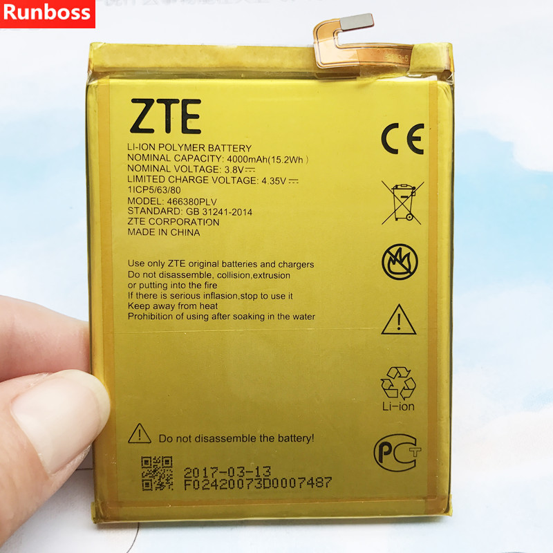 New 4000mAh 466380PLV Battery For ZTE Blade A610 A610C A610T BA610C BA610T Rechargeable Li-ion Built-in Mobile Phone Battery