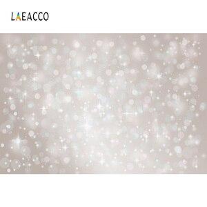 Image 2 - Laeacco doğum günü partisi Photophone ışık Bokeh Glitters Polka Dots bebek duş yenidoğan portre fotoğrafçılığı arka planında arka