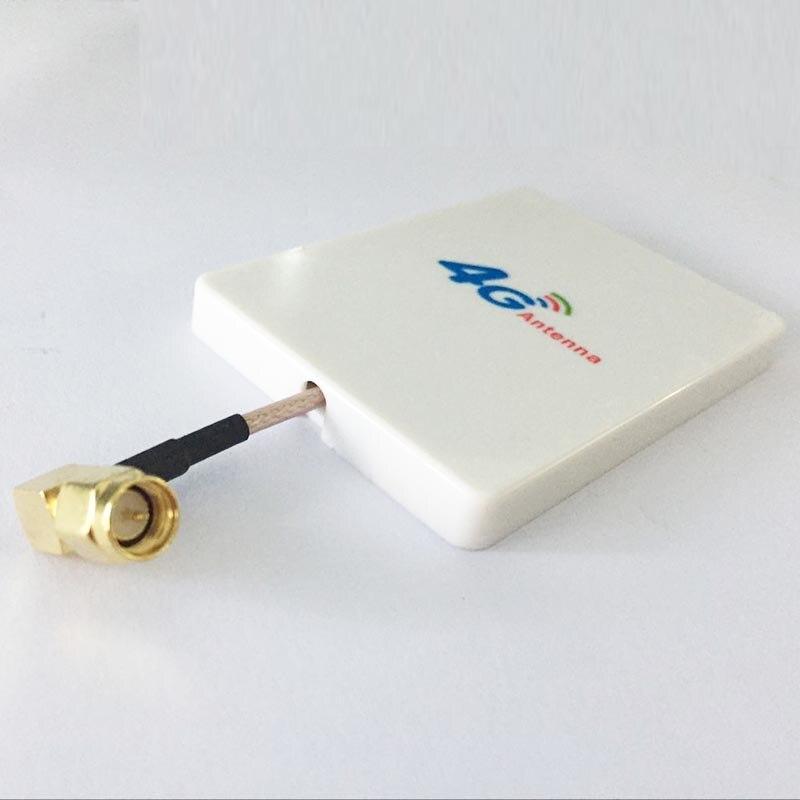 bilder für 4G LTE antenne SMA 18dbi high gain kleine panel antenne sma-stecker rechtwinklig weiß für 4g modem #1