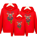 Family matching clothes kids Hoodie mother and daughter clothes Christmas Sweaters family Look thicken cotton padded Hoodies