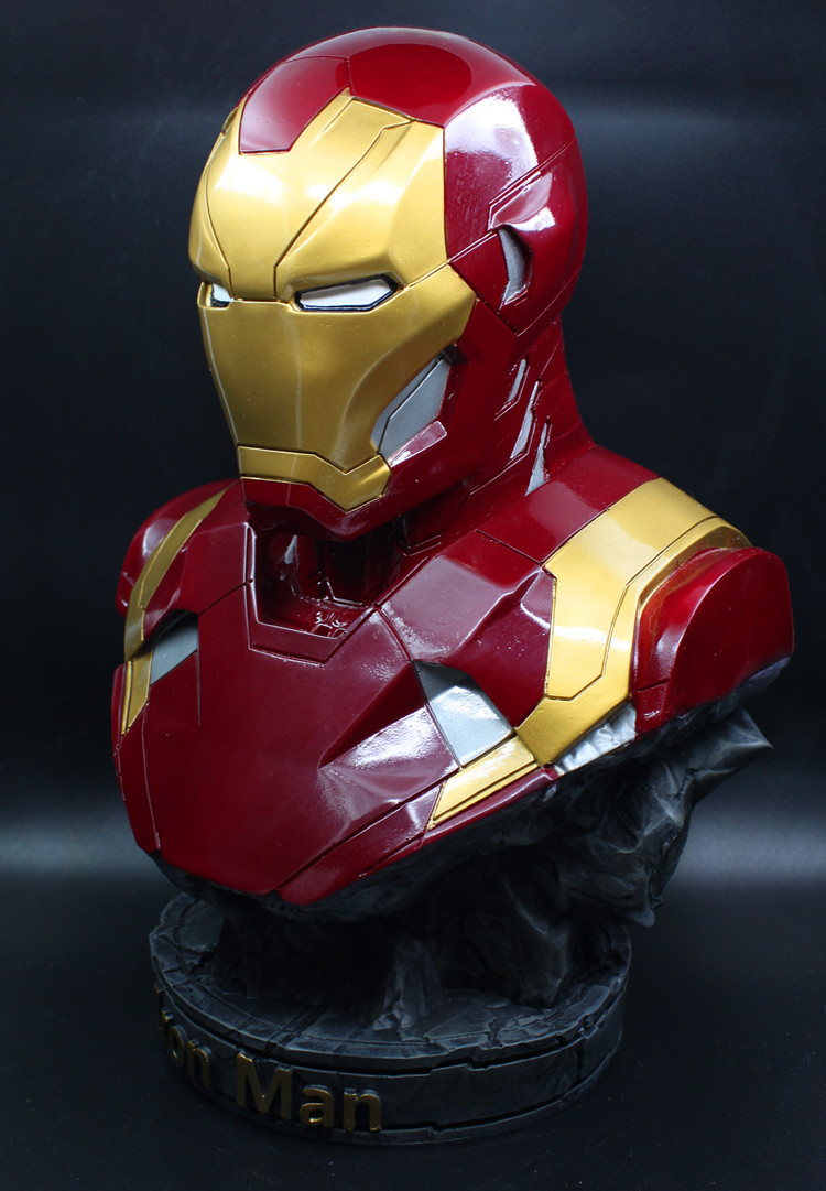 [Funny] Large size 36cm The Avengers hero Iron man MK46 Coloring resin figure statue toys Collection model desk Ornaments gift 2