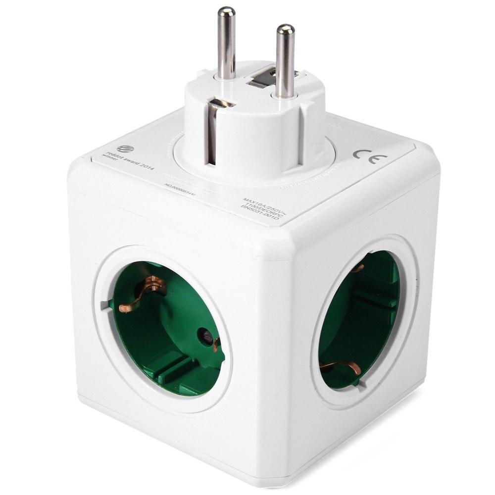 Allocacoc Charging Dock Original PowerCube Socket EU Plug 5 Outlets Adapter-16A 250V 3680w Power Cube