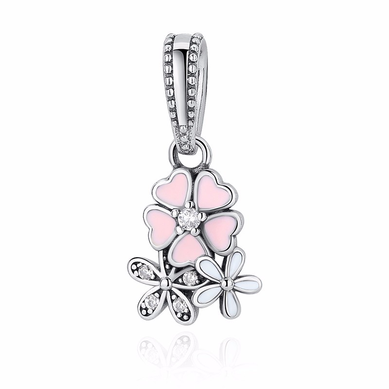 925 Sterling Silver Charm Beads - daisy mix