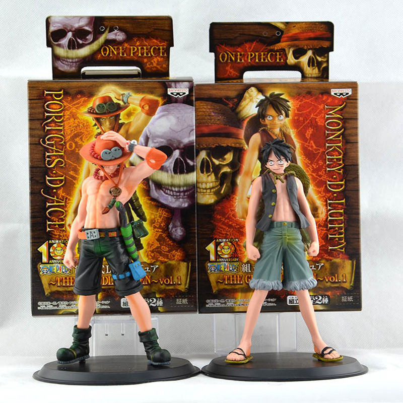Anime One Piece 16cm 2pcs/set 2 Years Later Luffy VS Ace with Box Action Figure Toys Dolls