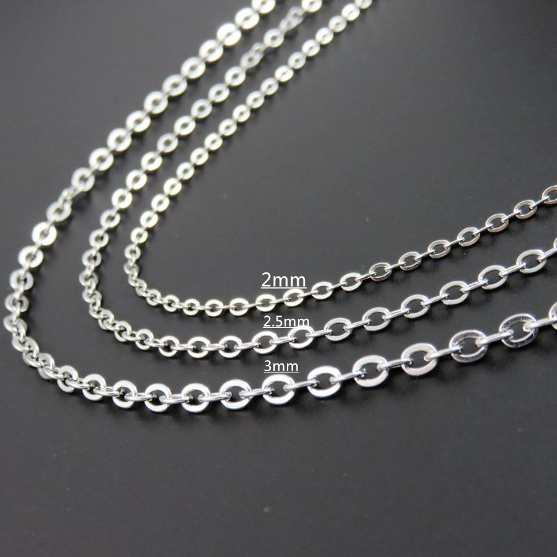 2 2 5 3mm Cross Chain Jewelry Finding DIY women Chains Fashion 316L Stainless Steel O