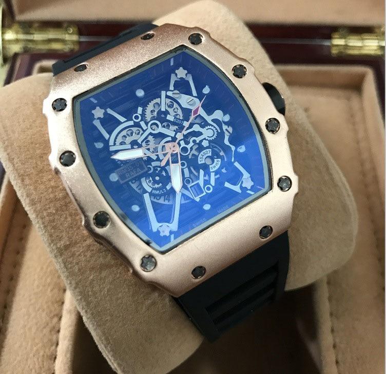 Reloj deportivo de cuarzo de diseño único y famoso de marca de lujo para hombre, gran reloj de sílice para hombre, reloj Masculino